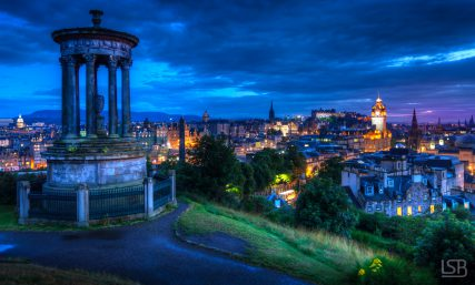 Blue hour at Calton Hill, Edinburgh.