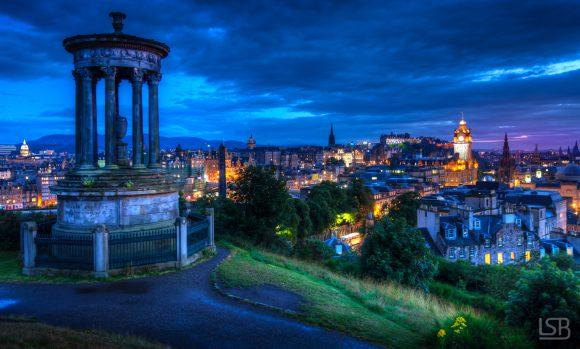 Blue hour at Calton Hill, Edinburgh.